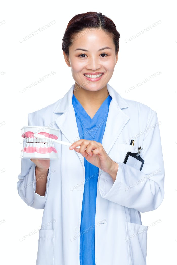 Doctor dentist woman