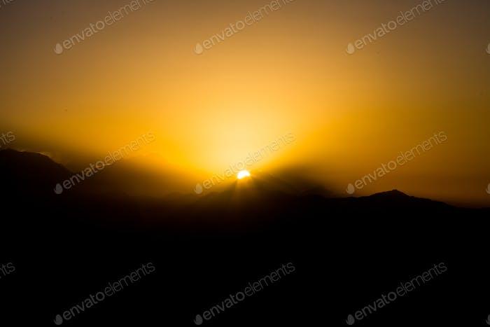 Serie der Morgendämmerung in der Annapurna Himalaya-Reihe, Nepal