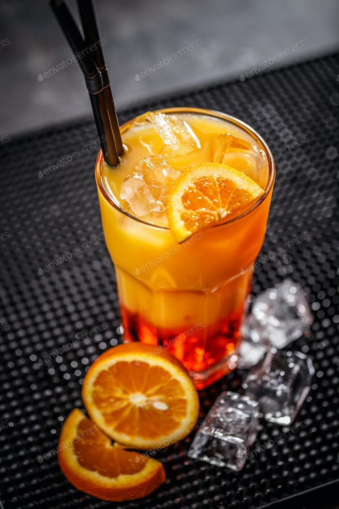 Fresh orange cocktail