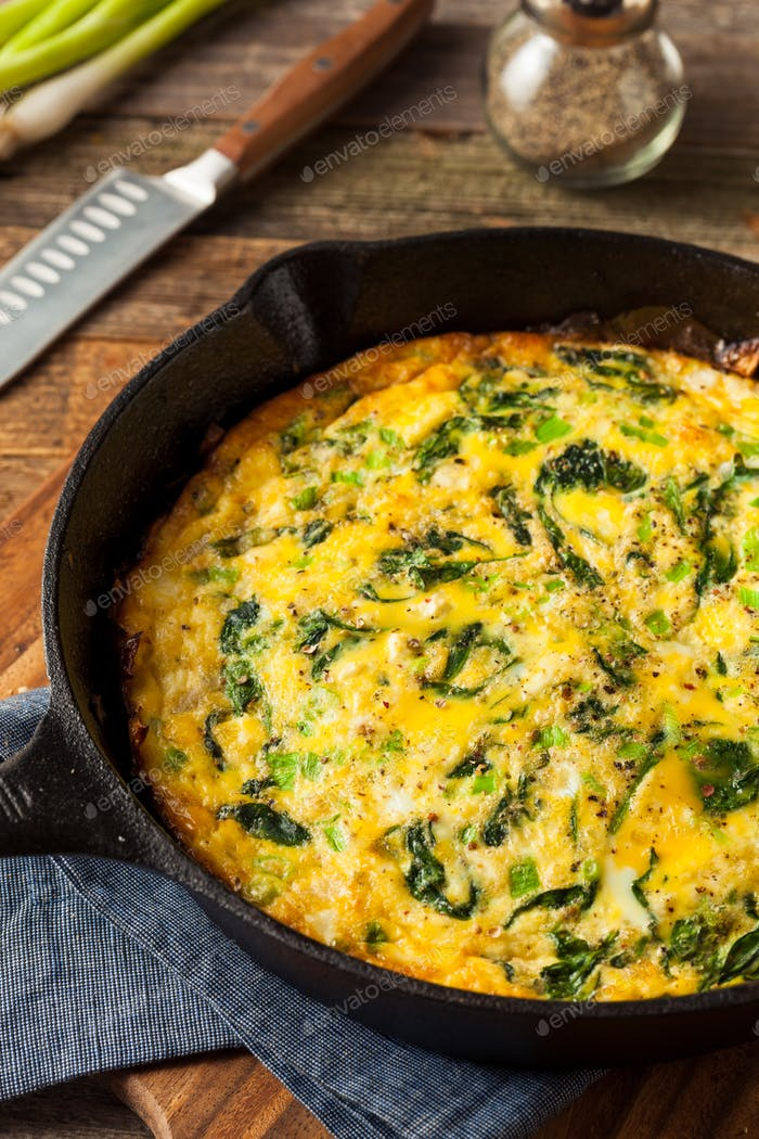 Thumbnail for Homemade Spinach and Feta Fritatta