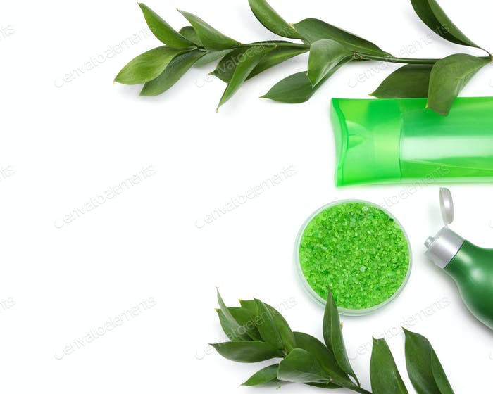 Natural cosmetic products with copy space
