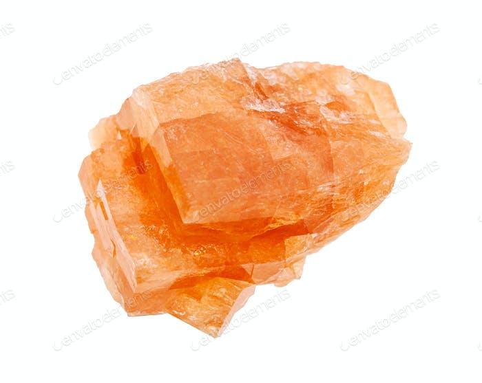 raw Chabazite rock isolated on white