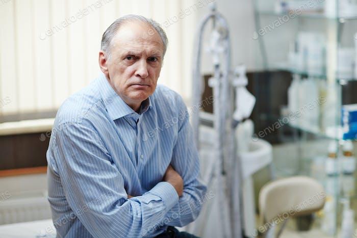 Sick pensioner