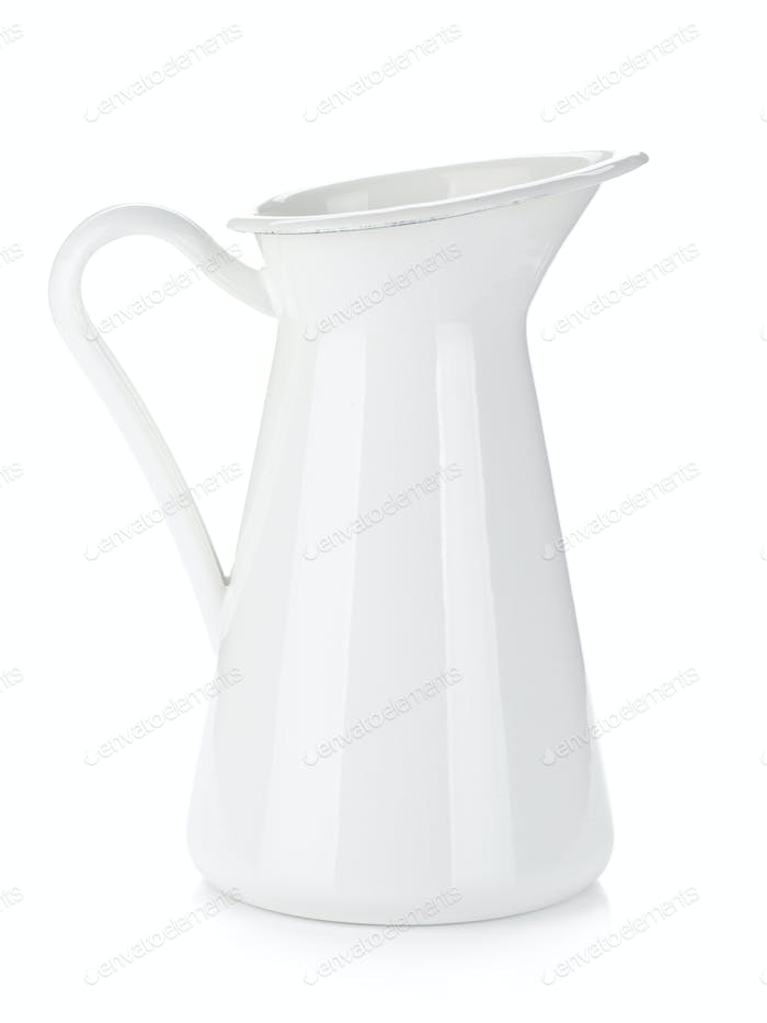 White metal milk pitcher