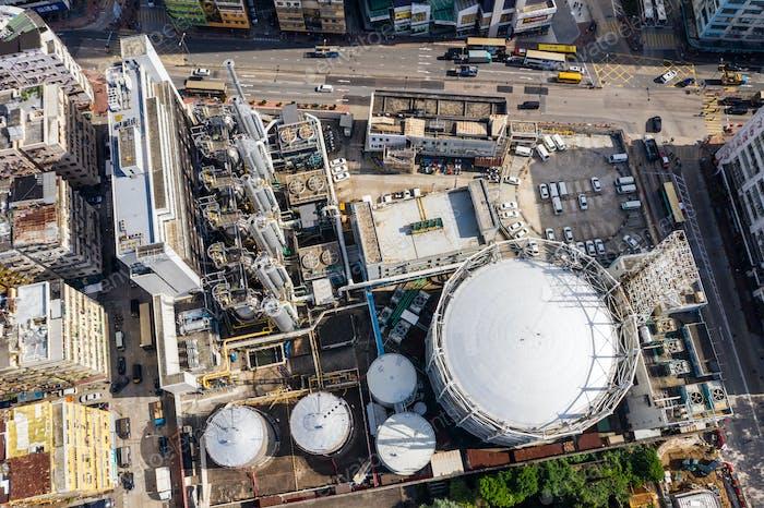 To Kwa Wan, Hong Kong, 29 November 2018: Gas factory