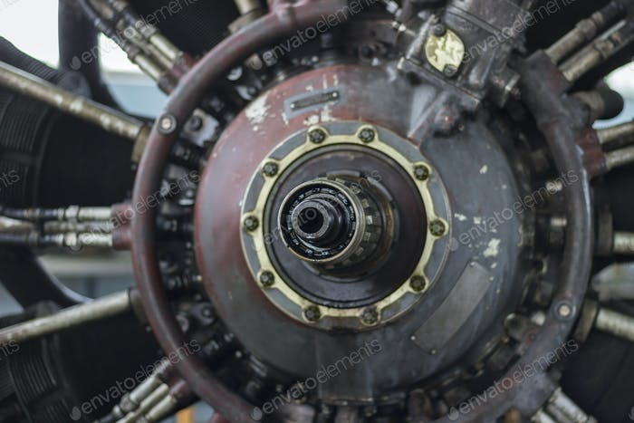 Thumbnail for Jet engine of a vintage airplane