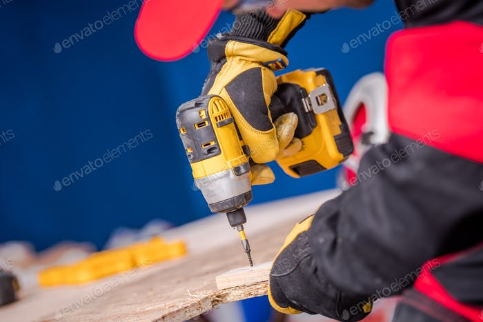 Woodwork with Drill Driver