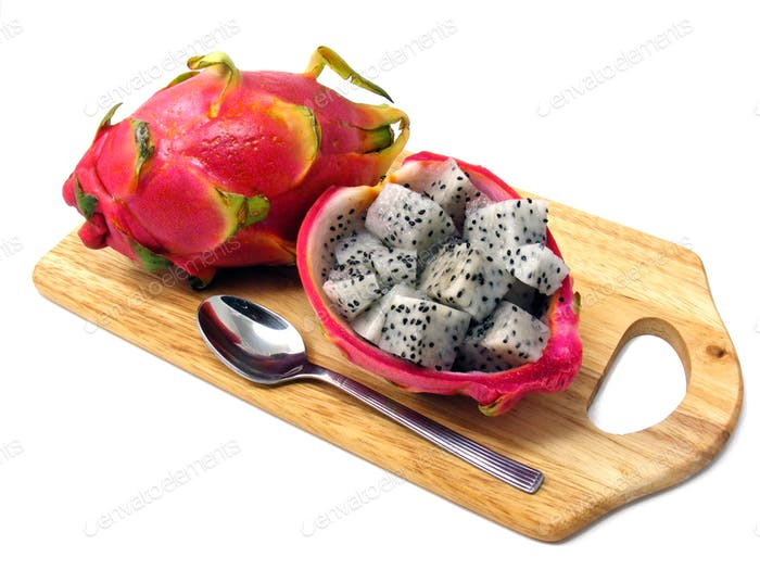 Diced Dragon Fruit