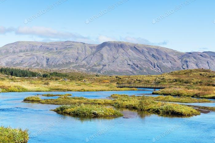 Tal des Flusses Oxara im Nationalpark Thingvellir