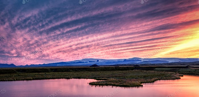 Pink Iceland Sunset