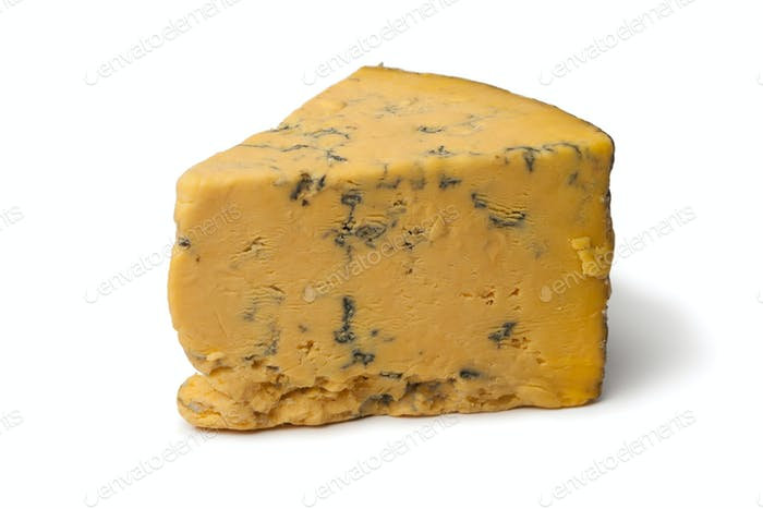 Wedge of English Shropshire Blue cheese