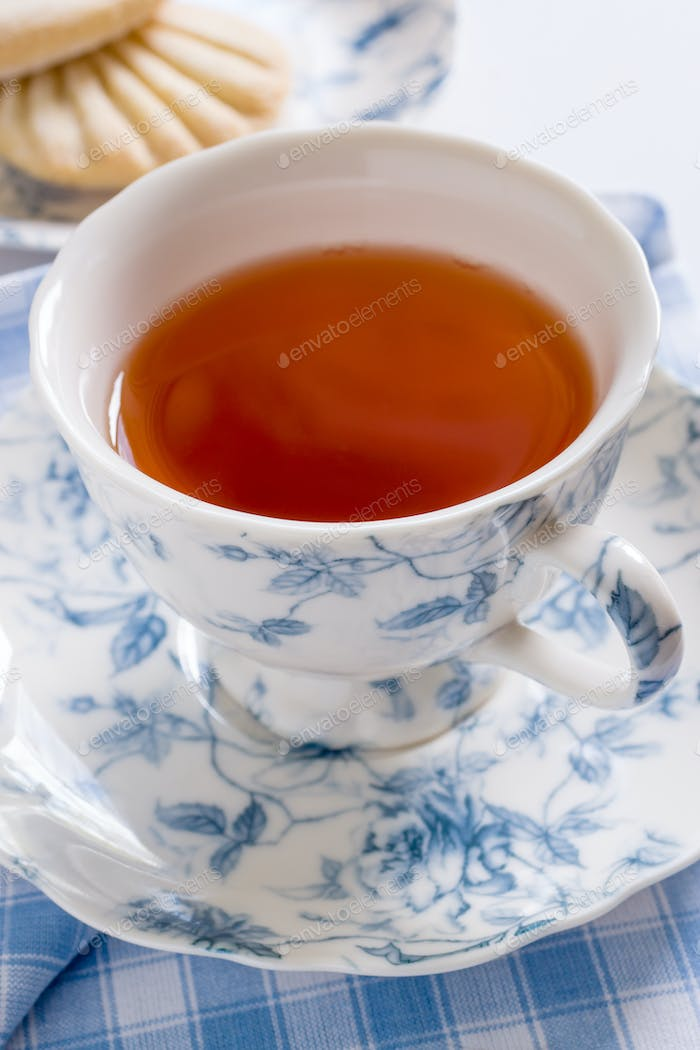English Tea in Floral Pattern Porcelain