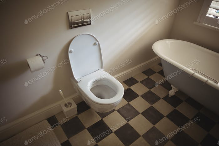 Interior view of modern toilet