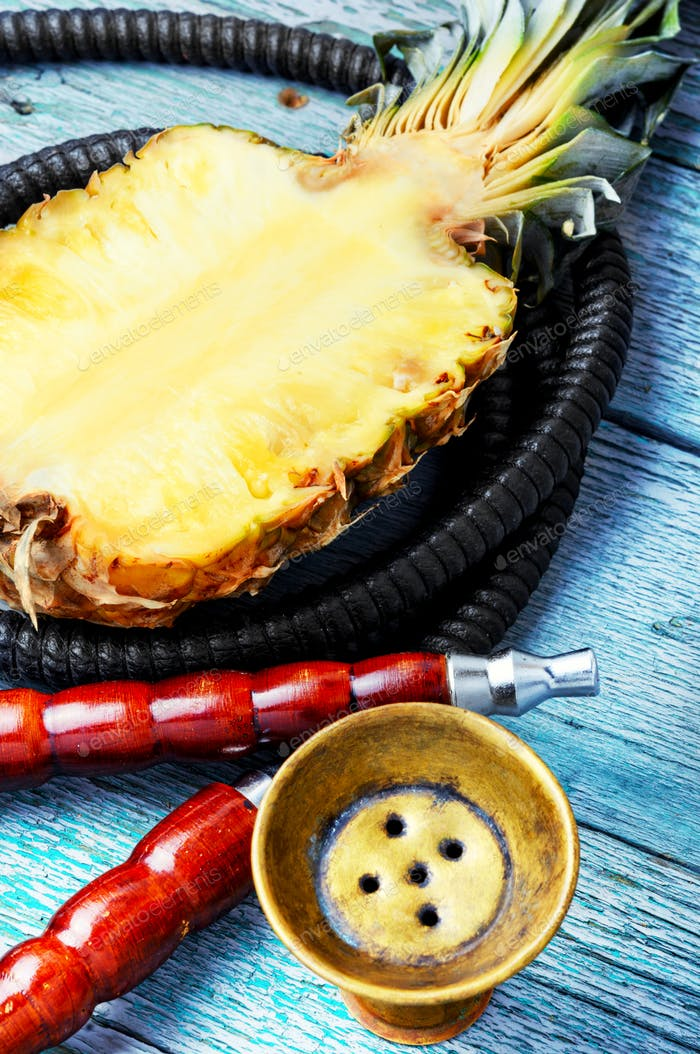 Stylish oriental shisha with pineapple