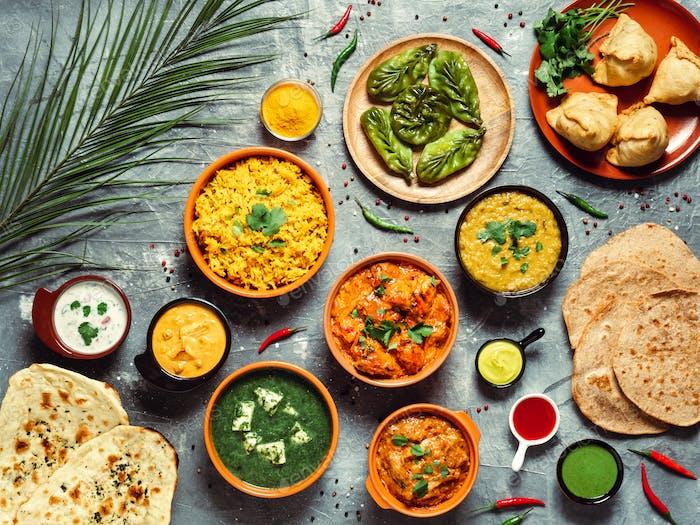 Indische Küche und indische Küche, Draufsicht