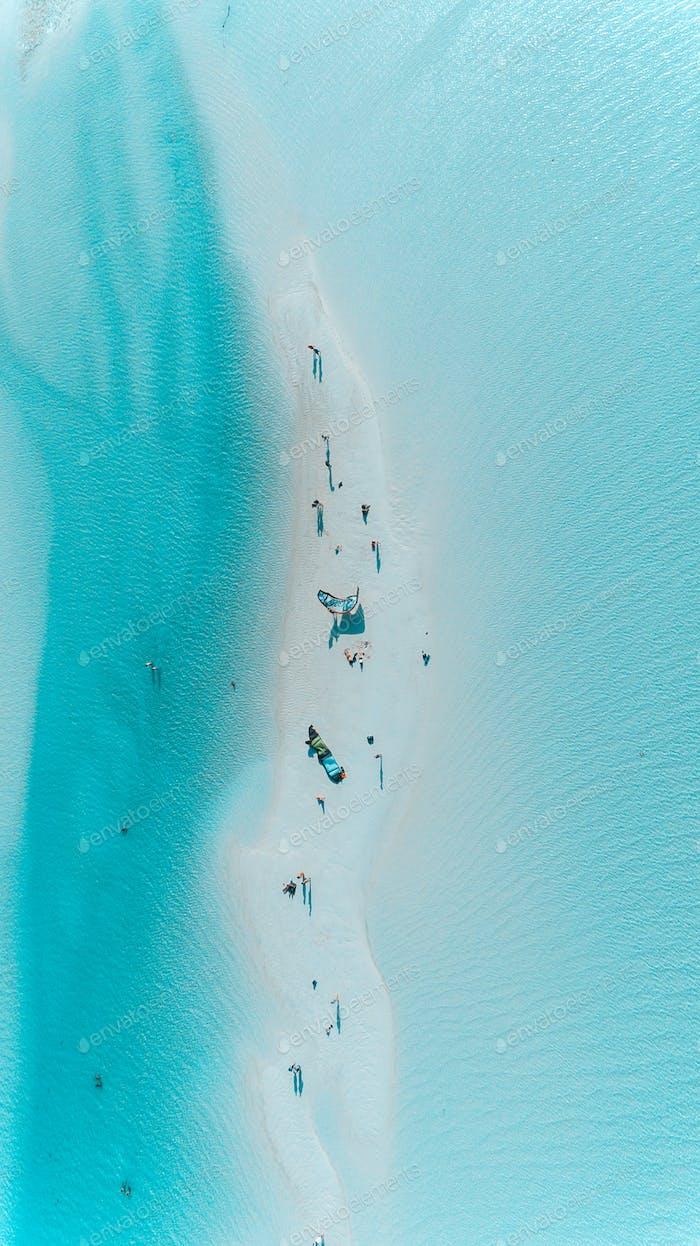 Kitesurfen bei jambiani, Sansibar