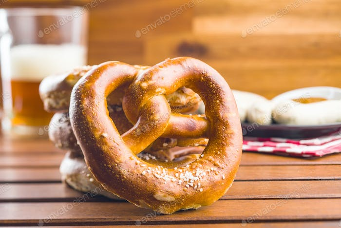 Soft salted pretzels.