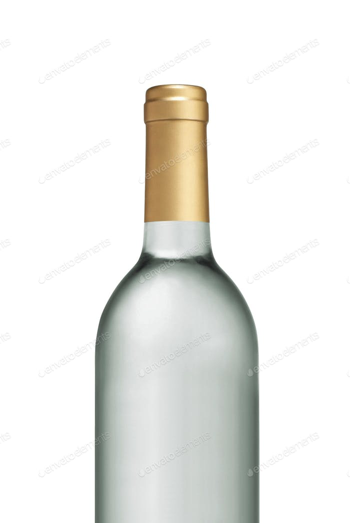 Glas Transparent Weinflasche isoliert