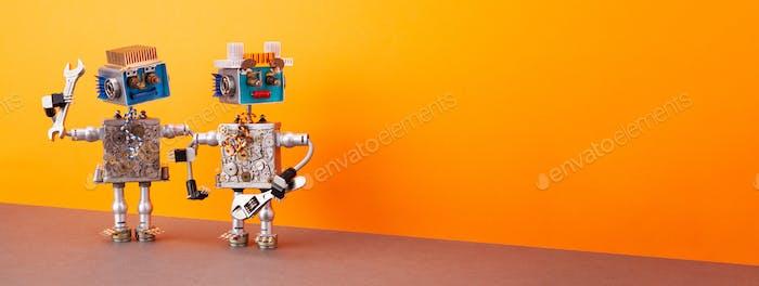 Automatisierte Roboterreparatur technologische mechanische elektronisch Ausrüstung.