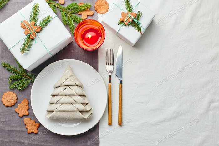 Weihnachten festliche Tischdekoration
