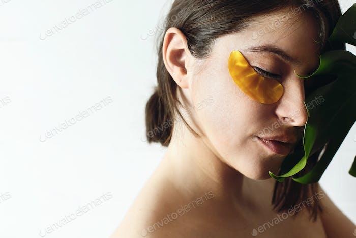 Anheben Anti-Falten-Kollagen-Flecken unter den Augen