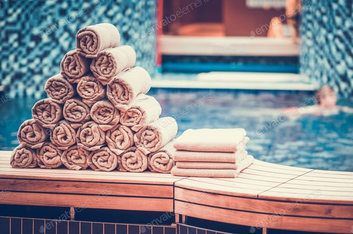 Indoor Swimming Pool Towels photo by duallogic on Envato ...