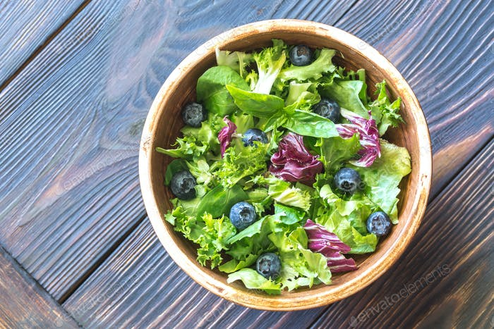 Salad mix close up