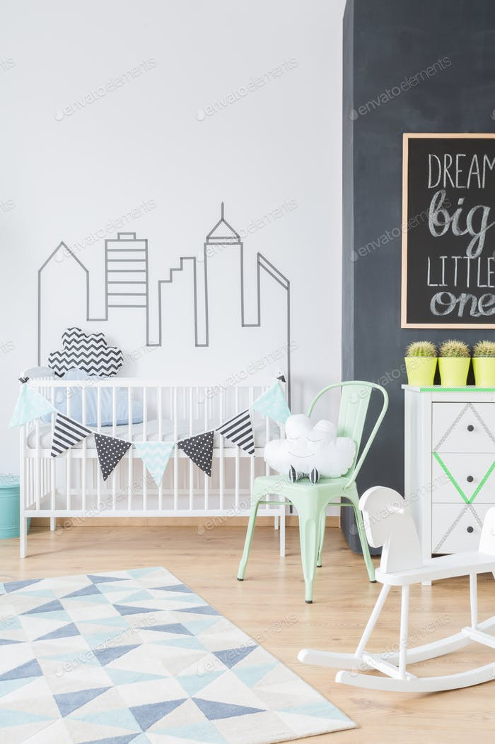 Inspiring wall sticker adding style to a newborn's room