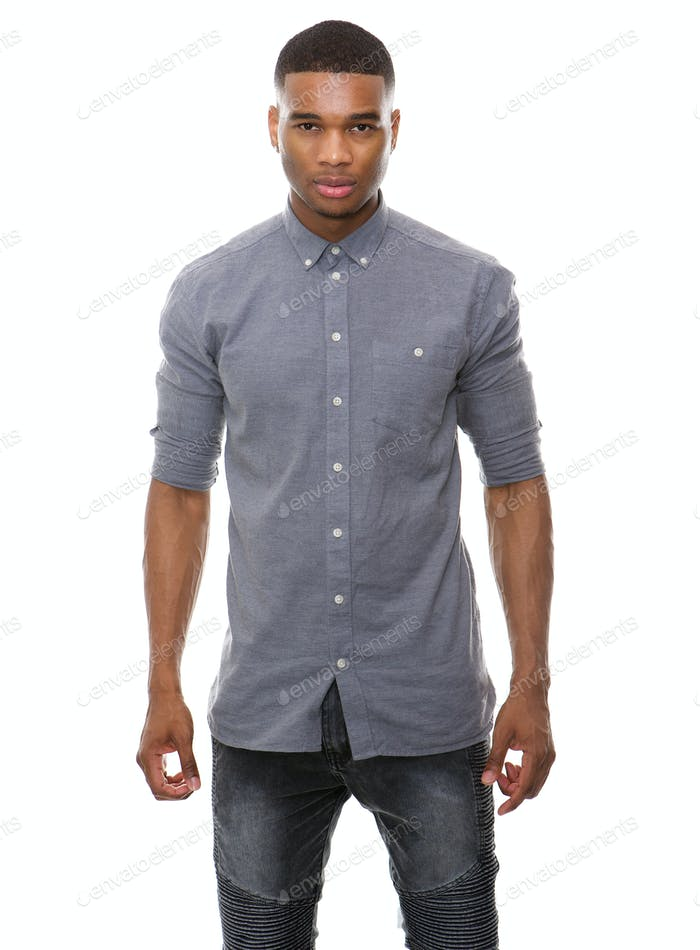 African american male fashion model