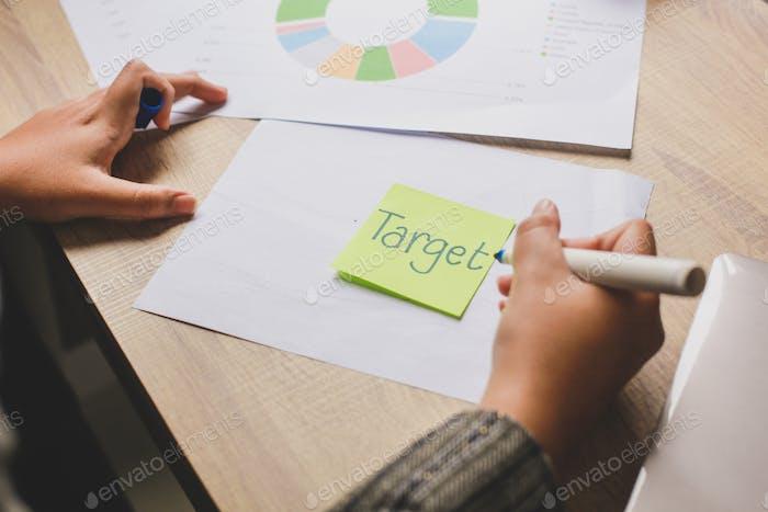 Hand Writing Target