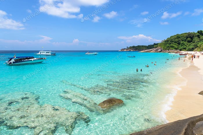 Beautiful beach at Koh Miang in Mu Koh Similan, Thailand