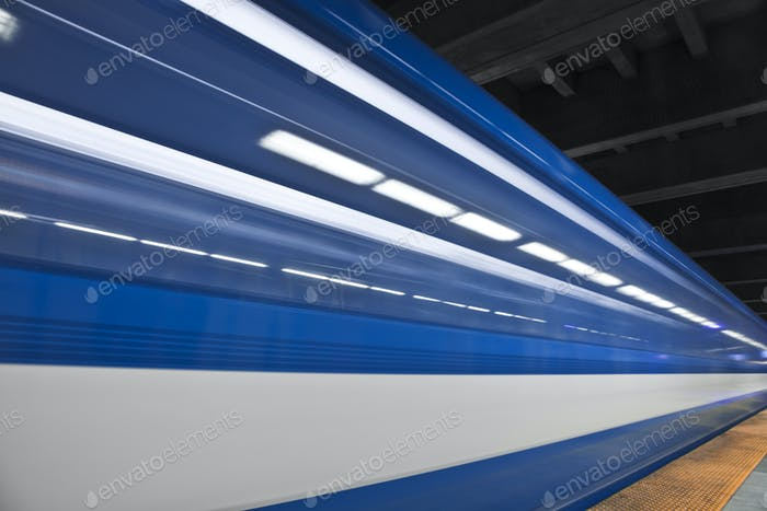 Fast metro passing by