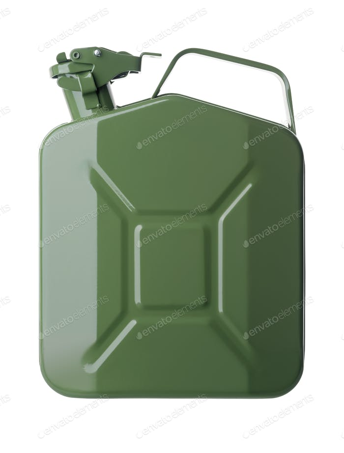 Green gasoline canister