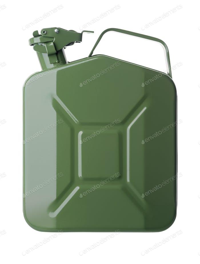 Grüner Benzinkanister