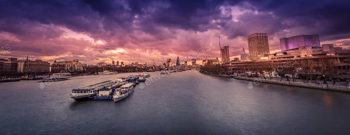 London Panorama nach Sonnenuntergang