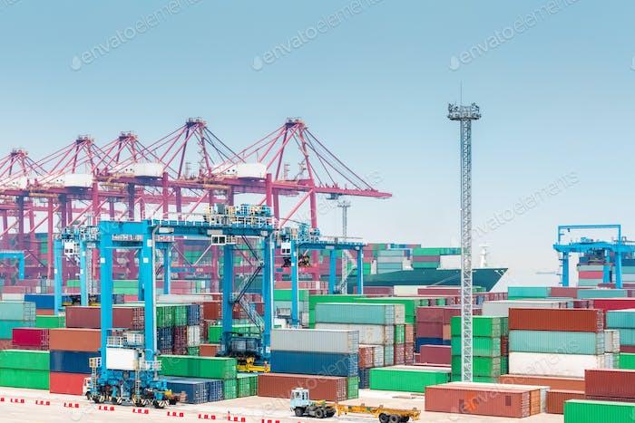 container port closeup