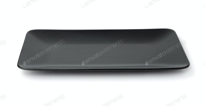 Empty  black square plate