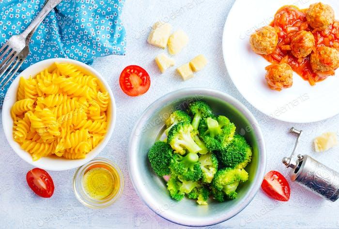 Zutaten für Pasta