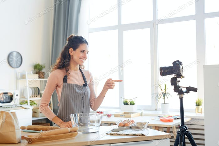 Woman Shooting Cooking Tutorial