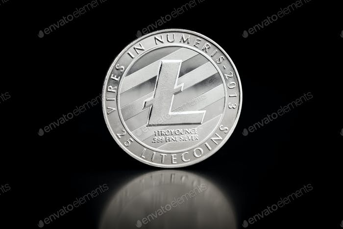 The silver litecoin.