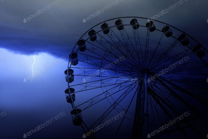 Funfair wheel in Bournemouth