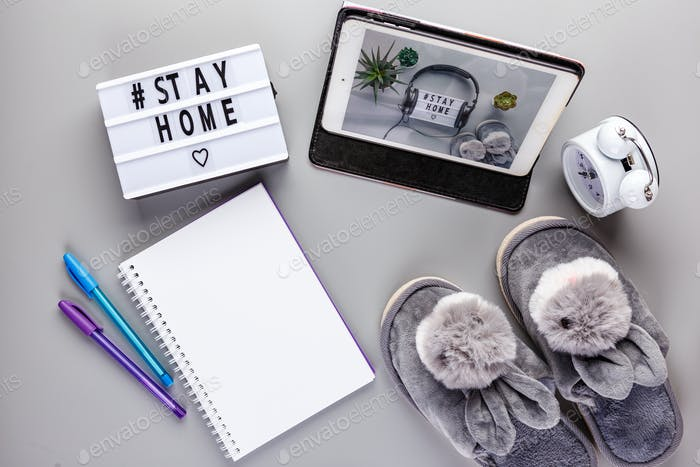 Thumbnail for Stay home text Lightbox