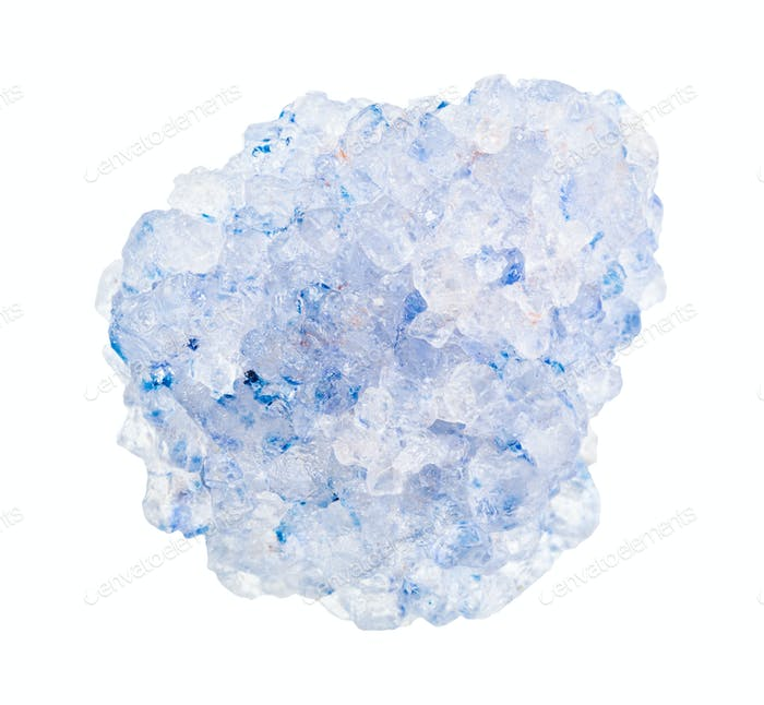 unpolished Celestine rock isolated on white