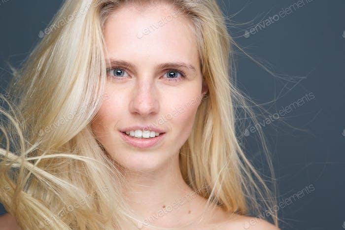 Beauty blond female fashion model