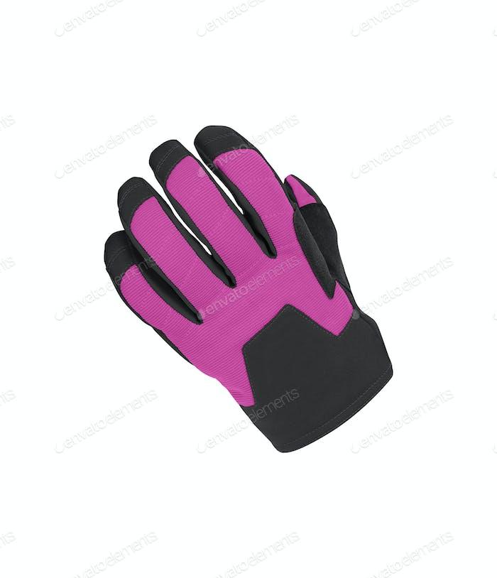 purple bicycle gloves