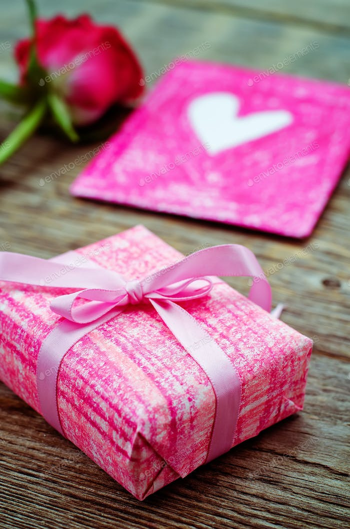 Valentine's background with gifts