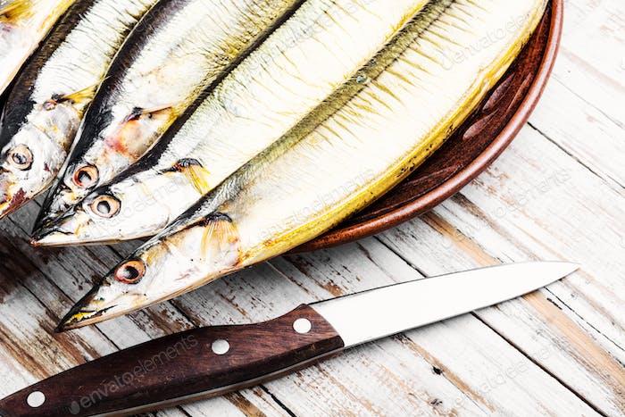 Appetitlich geräucherter Fisch