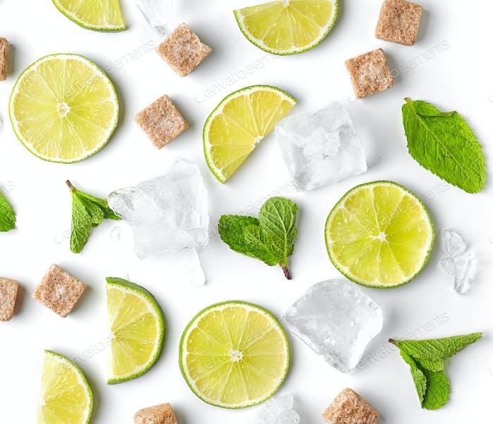 Limettenminze und Eis