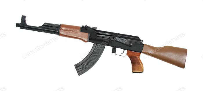 ak 47 isolated on white