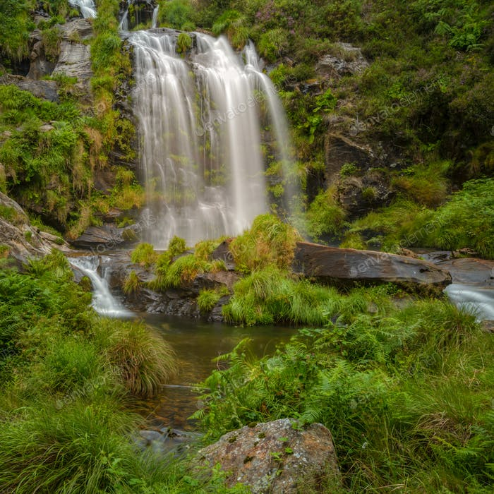 The Xestosa waterfall in the Xistral mountain range